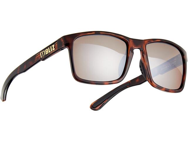 Bliz Luna M9 Glasses demi brown/brown with silver mirror